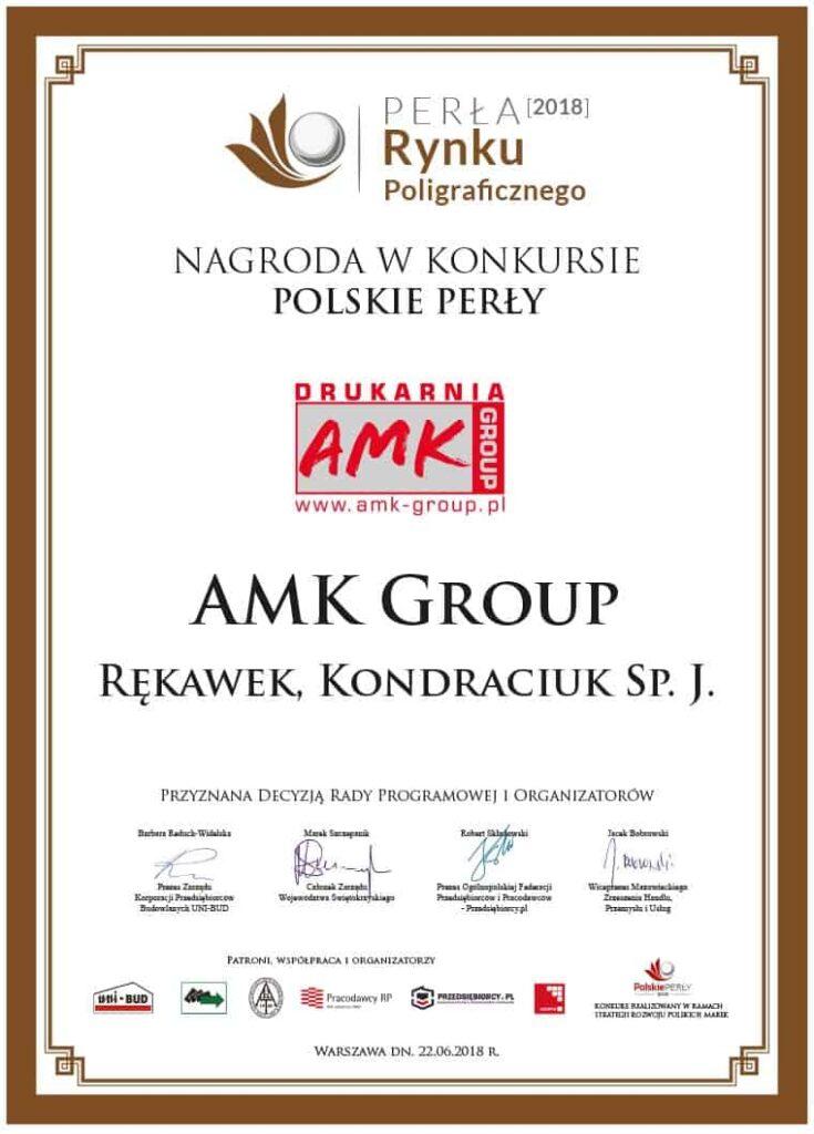 AMK Group - NAGRODA W KONKURSIE POLSKIE PERŁY