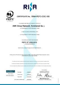 AMK Group PEFC Certificate