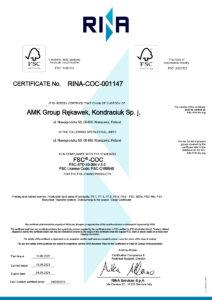 AMK Group FSC Certificate